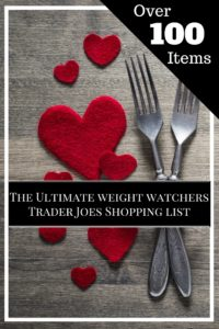 Trader Joe's Weight Watchers Smart Points Shopping List
